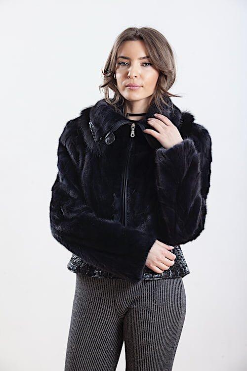 Jacheta din blana naturala de vizon - DIM 01