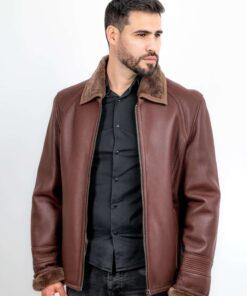 Jacheta din blana de ovine